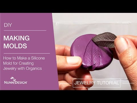 How to Make a Silicone Mold for Creating Jewelry with Organics