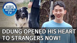 Ddung opened his heart to strangers now! [Dogs are incredible/ENG/2020.05.20]