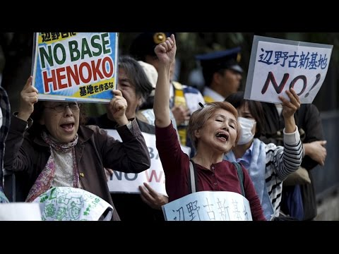 Protesters pushing for US military to leave Okinawa - history prof.