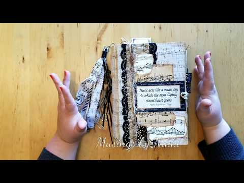 Vintage Music Themed Junk Journal Flip Through - SOLD
