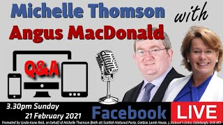 Michelle Thomson with Angus MacDonald