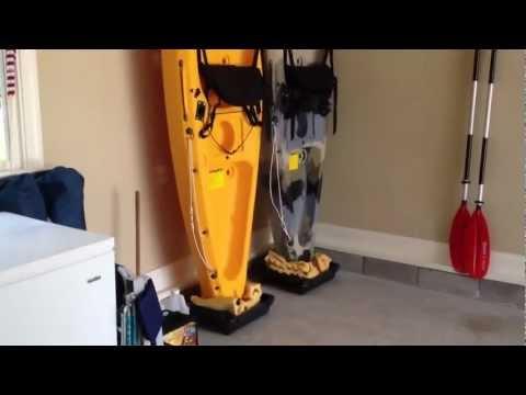 DIY - Easy kayak Upright Garage Storage