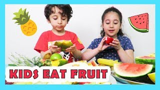 KIDS EAT FRUITS!  | messy cutie | Fatema's Art Show