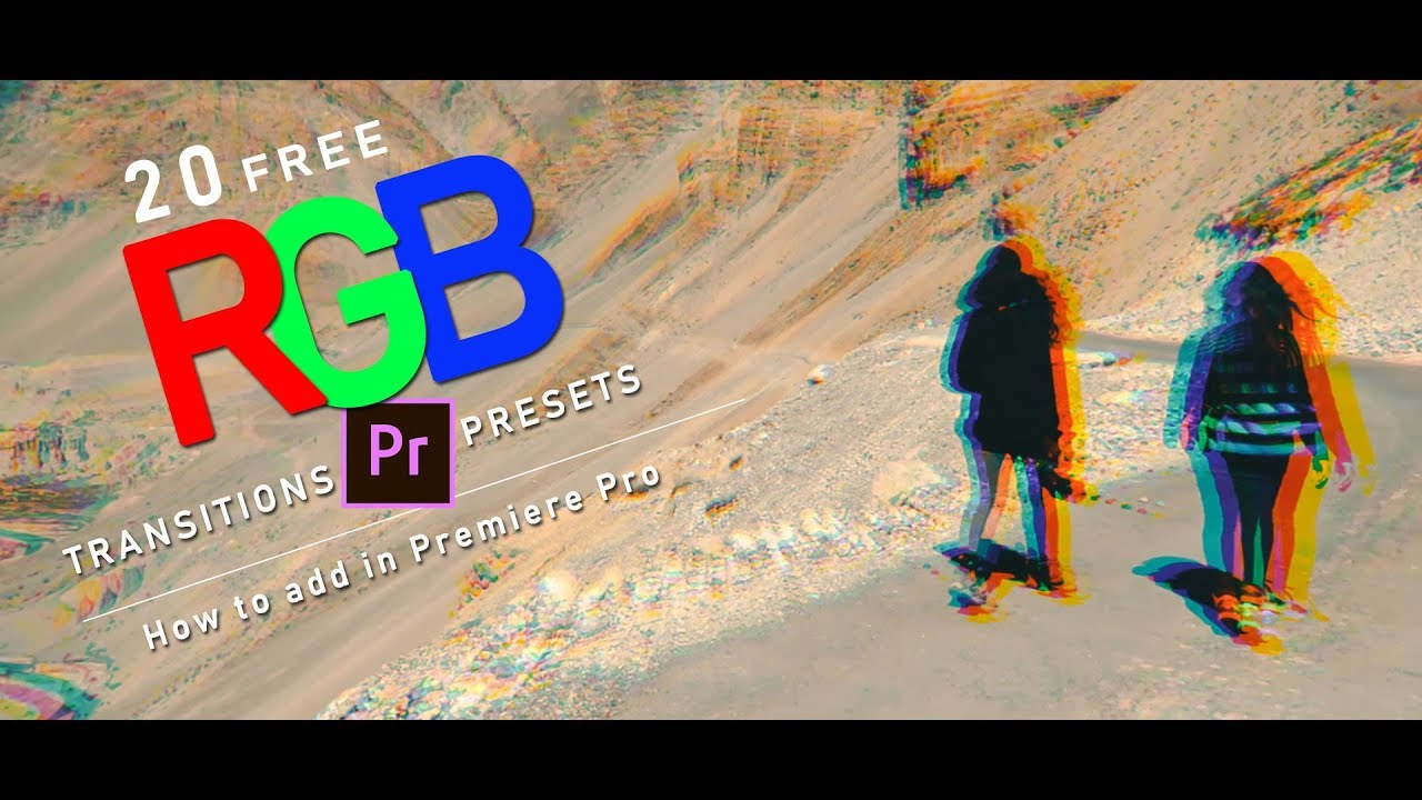 RGB Transition Presets for Premiere Pro: 20 Free RGB Transitions