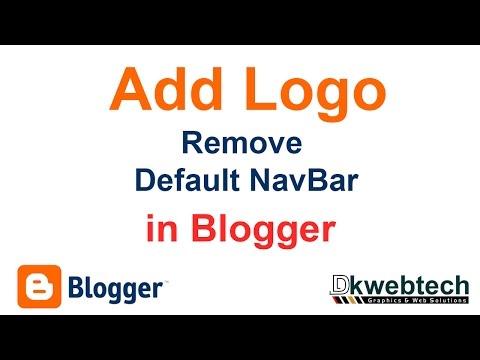 Add Logo I Remove Default Navbar In Blogger  In Hindi - 03