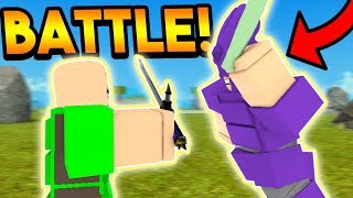 THE MOST INTENSE TRIBE BATTLE IN BOOGA BOOGA! (ROBLOX)