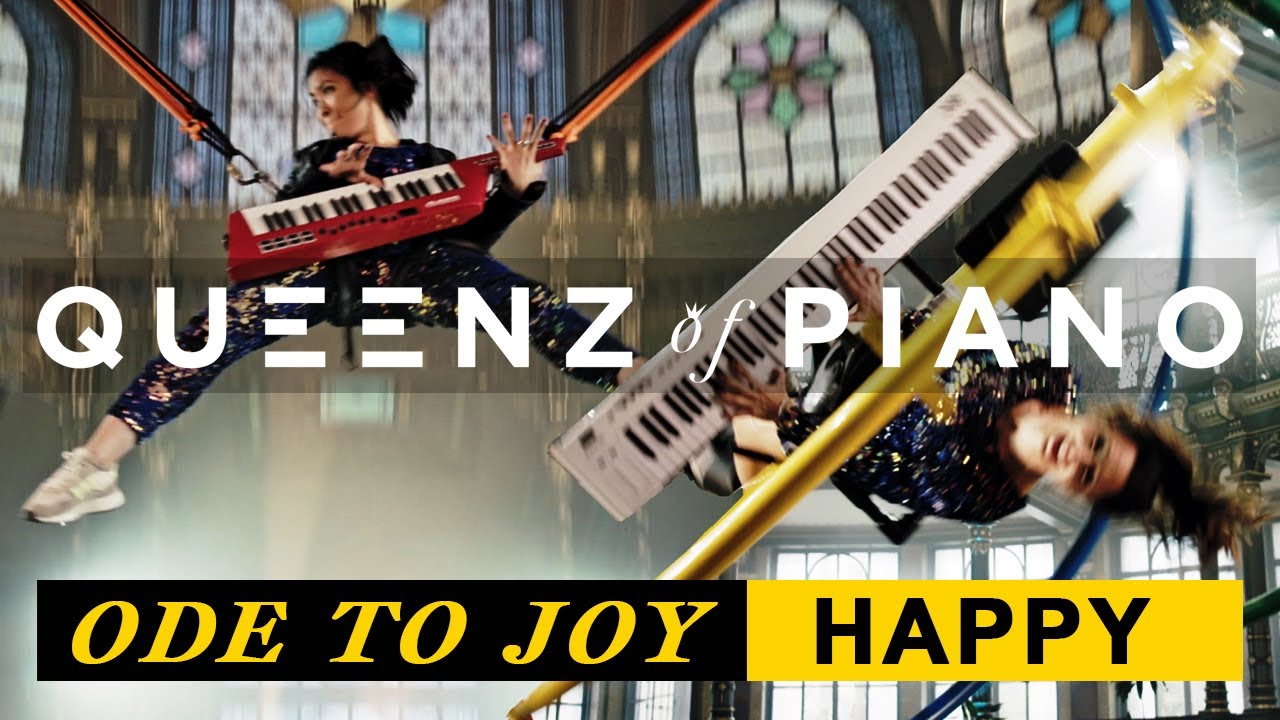 Ode To Joy / Happy [Beethoven meets Pharrell Williams] - Queenz of Piano (Official Music Video)