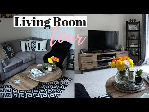 LIVING ROOM TOUR UK AND DECORATING IDEAS