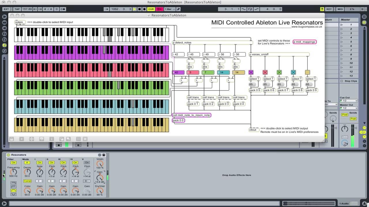 midi controlled ableton live 7 resonators hd youtube rh youtube com Ableton Art Ableton Live Computer Keyboard Map