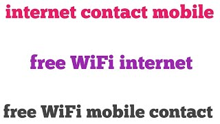 How to use free WiFi posword in mobile
