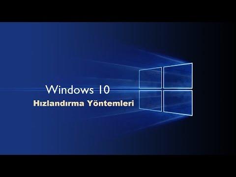 Bilgisayar Hızlandırma Windows 10 Pc Hızlandırma Detaylı Anlatım!