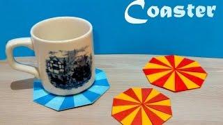 DIY coaster! Origami coaster. Tato origami. Origami placemat unit. Christmas ideas