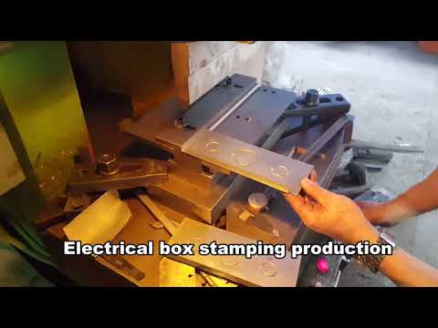 Electrical Junction Box Punch Press Machine   Automatic stamping production from KRRASS