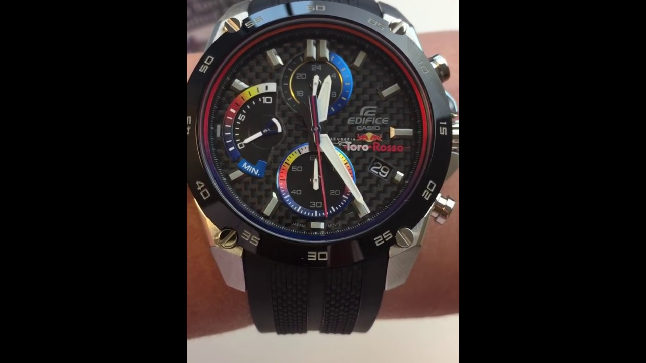 0edd38b199de CASIO EFR-557TRP-1AER RED BULL LIMITED EDITION Mooihorloge.nl - YouTube