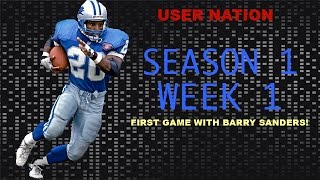 FIRST GAME WITH BARRY SANDERS! WHAT A MONSTER! SEASON 1 WEEK 1 Thumbnail