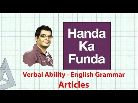 Verbal Ability - English Grammar Preparation Tips - Articles