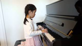 """Let It Go"" (Disney's Frozen Theme Song) Piano played by Julia Lau (7 years old)"