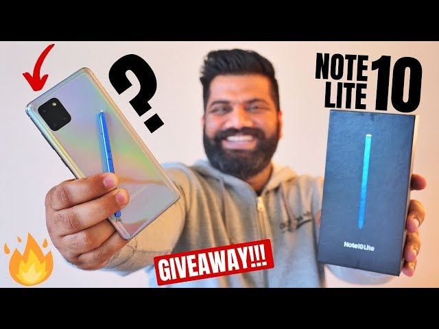 Samsung Galaxy Note 10 Lite Unboxing & First Look - Heavy Features Lite Price??? GIVEAWAY🔥🔥🔥