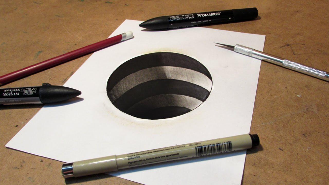 Kolay 3 Boyutlu E harfi çizimi nasıl  çizilir - How to draw easy 3D letter E drawing