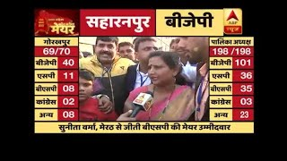 meerut civic polls results bsps sunita verma wins the mayor seat