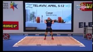 2014 European Weightlifting 105 kg C+Jerk  Part 2