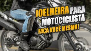 JOELHEIRA PARA ANDAR DE MOTO   JOELHEIRA PRESA NA CALÇA FAÇA VOCÊ MESMO   MOTO DICAS
