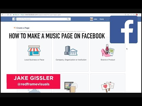 How to start a music page on Facebook