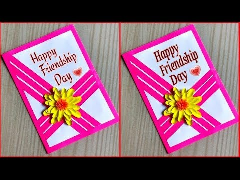 Friendship day card for best friend / friendship day card idea / DIY friendship day card