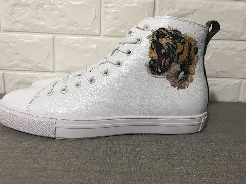 6656b9dcf The Gucci Ace High Top Sneaker with tiger in White,Review!!! Lucusyupoo