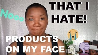 PRODUCTS ON MY FACE THAT I HATE! COLLAB WITH CCOSMETIC CHAOS   BEAUTY BY KANDI