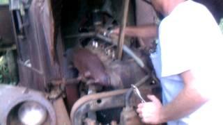 1918 Mack Truck starting up 1