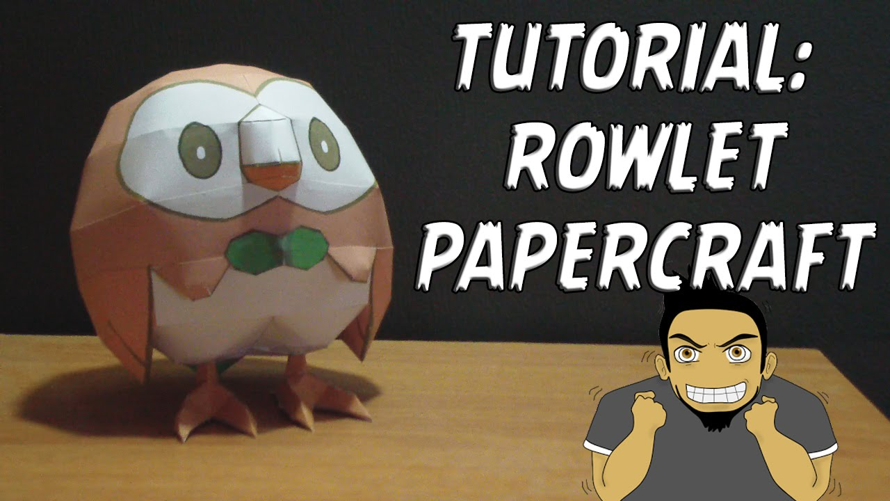 Papercraft Tutorial - Rowlet Papercraft (Pokemon Sun & Moon #2)