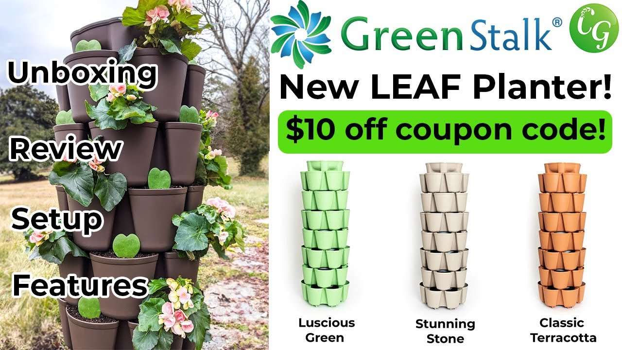 NEW! Green Stalk LEAF Planter Vertical Container Garden - Unboxing & Review!