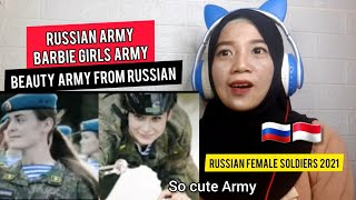 RUSSIAN ARMY INCREDIBLE!! Reaction | Barbie Girl - Russian female soldiers (React, Reaksi)