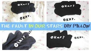 DIY Room Decor ♥ The Fault In Our Stars DIY Pillow (NO SEW!!!)  • heartcindy Thumbnail