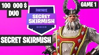 Fortnite Secret Skirmish DUO Game 1 Highlights - Fortnite Tournament 2019