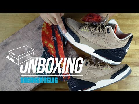 "Unboxing Air Jordan 3 ""Bio Beige"""