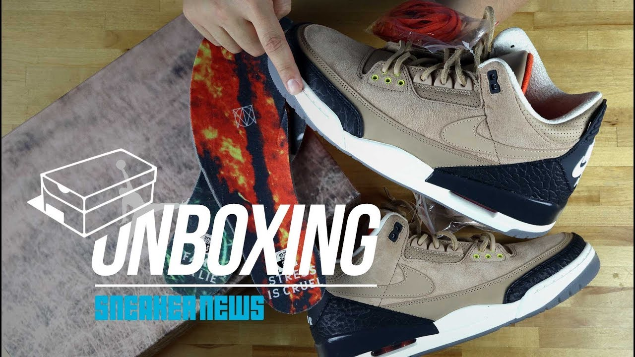 "huge selection of d1fd7 04e9f Unboxing Air Jordan 3 ""Bio Beige"""