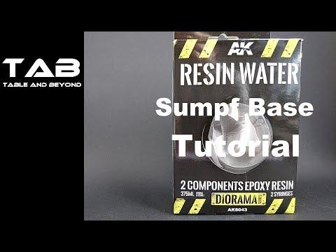 Resin Water Sumpf Base gestalten - Warhammer40K - german - Tabletop Hack - Tab Table and beyond