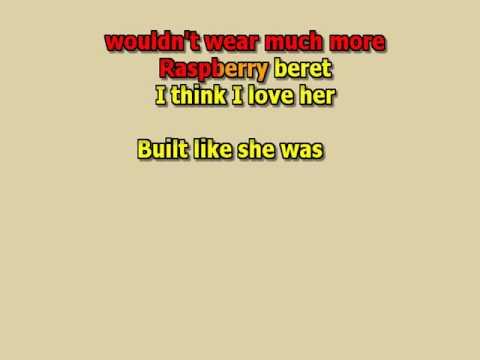 Raspberry beret  Prince  karaoke instrumental lyrics