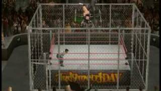 DX vs Brothers of Destruction Hell in a Cell Part 1