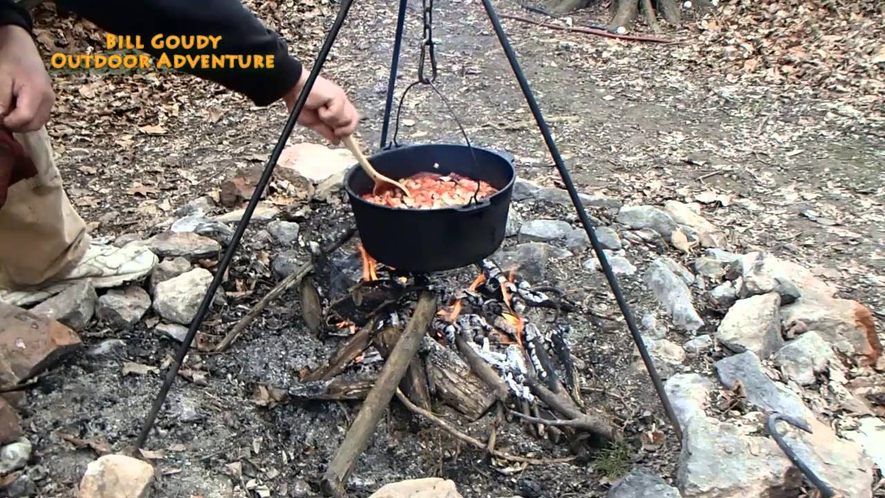 Campfire Cooking - Cabbage Soup - Dutch Oven - YouTube