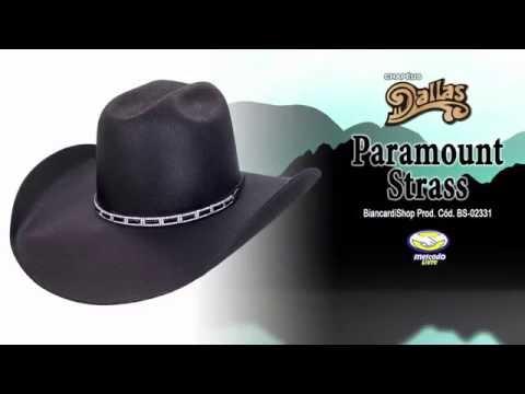 Chapéu Dallas Paramount Strass Unissex Preto BS-02331 - YouTube 03900508634