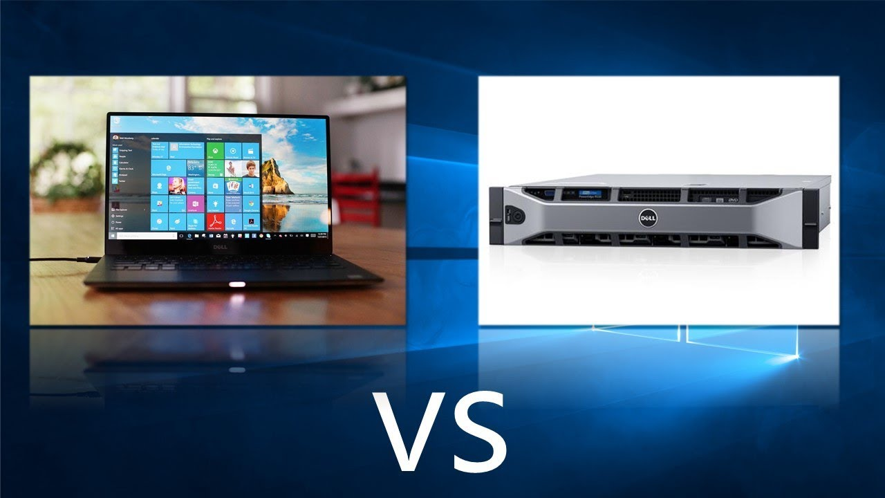 Comparing Windows 10 to Windows Server 2016