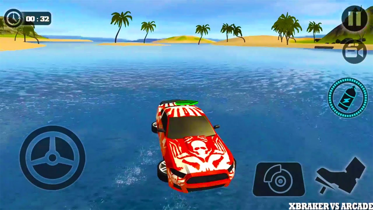 Floating Water Surfer Car Driving - Beach Racing Android Gameplay 2017