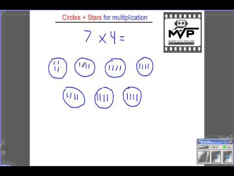 Multiplication, 1 digit by 1 digit Circles and Stars - YouTube