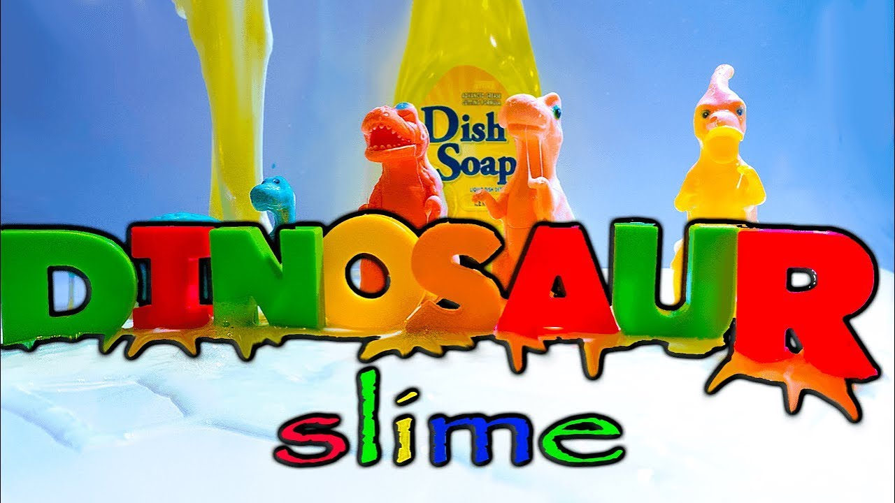 """D"" is for DINOSAUR Slime! ASMR Most Satisfying Slime Video"