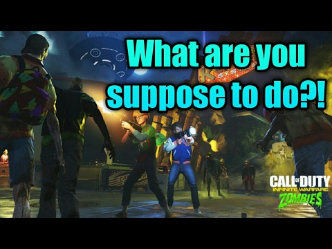 """WTF AM I SUPPOSES TO DO"" (Call of duty Infinite Warfare Zombies In Spaceland)"