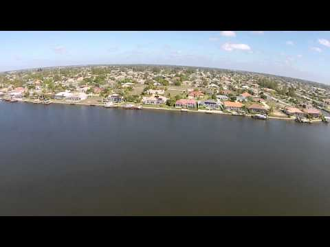 drone flight at lake finisterre cape coral