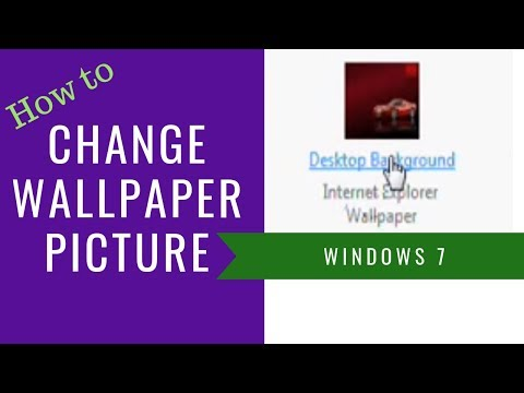 how to change background picture on windows 7